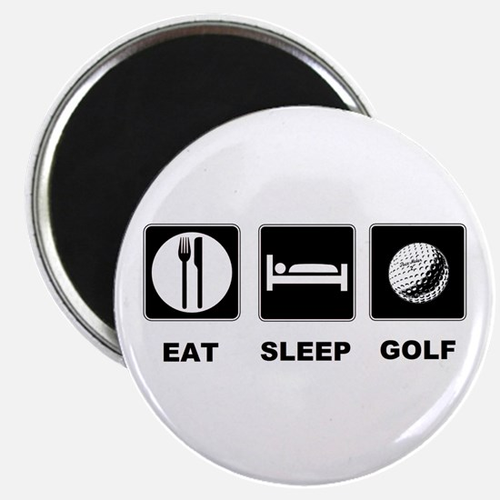 "Eat Sleep Golf 2.25"" Magnet (10 pack)"