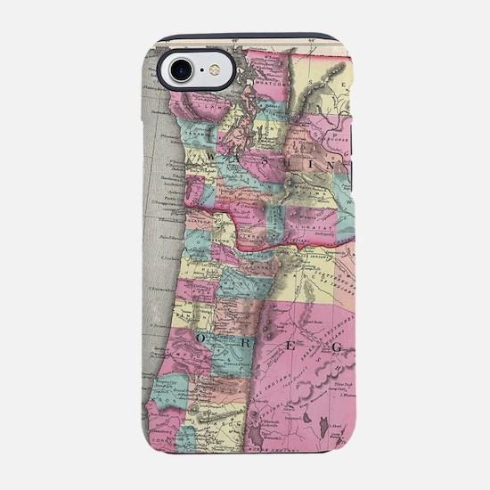 Vintage Map of Washington and iPhone 7 Tough Case