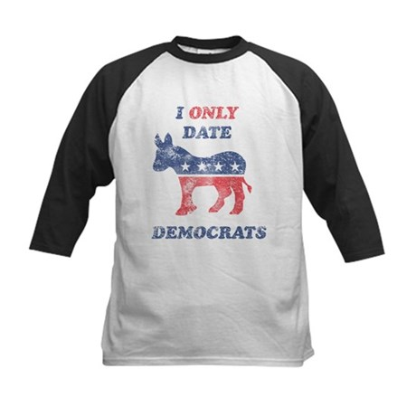 I Only Date Democrats Distres Kids Baseball Jersey