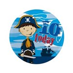 "Cute Pirate Boy 10th Birthday 3.5"" Button"