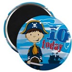 "Cute Pirate Boy 10th Birthday 2.25"" Magnet (1"