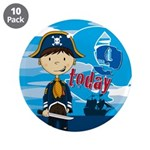 "Cute Pirate Boy 9th Birthday 3.5"" Button (10"