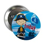 "Cute Pirate Boy 9th Birthday 2.25"" Button"