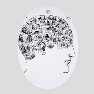know thyself Oval Ornament