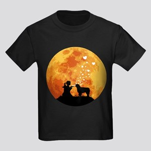 Australian Shepherd Dog Kids Dark T-Shirt
