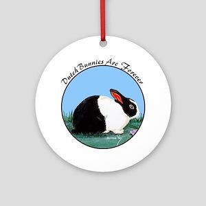 Dutch Rabbit Ornament (Round)