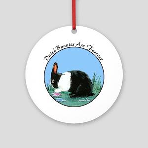 Dutch Bunny Ornament (Round)