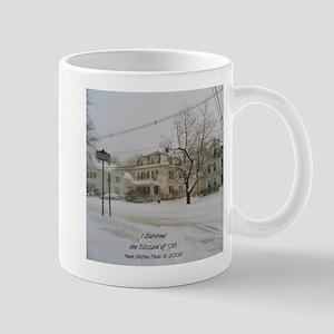 SNOW PILING UP ! Mug