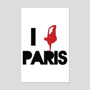 I break PARIS Mini Poster Print