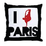 I break PARIS Throw Pillow
