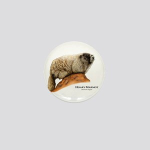 Hoary Marmot Mini Button