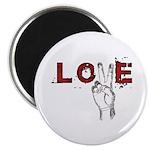 Love Peace V Magnet