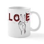 Love Peace V Mug