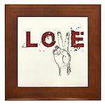 Love Peace V Framed Tile