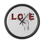 Love Peace V Large Wall Clock