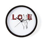Love Peace V Wall Clock