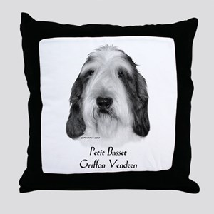 Petit Basset Griffon Vendeen Throw Pillow