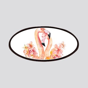 Tropical birds- Flamingo in LOVE with exotic Patch