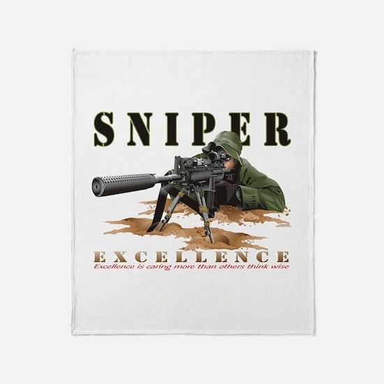 Police Sniper Throw Blanket