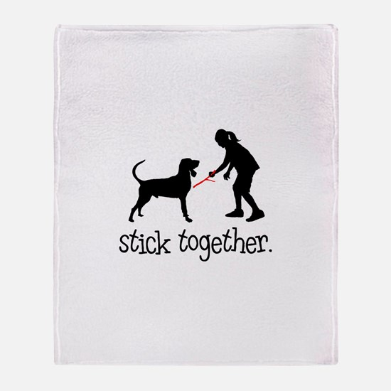Black & Tan Coonhound Throw Blanket