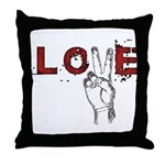 Love Peace V Throw Pillow