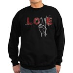 Love Peace V Sweatshirt (dark)
