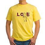 Love Peace V Yellow T-Shirt