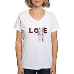 Love Peace V Women's V-Neck T-Shirt