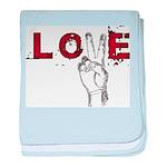 Love Peace V baby blanket