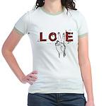 Love Peace V Jr. Ringer T-Shirt