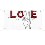 Love Peace V Banner