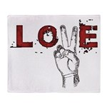 Love Peace V Throw Blanket