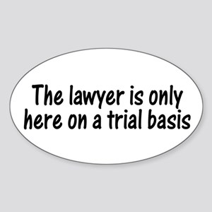 Trial Basis Oval Sticker