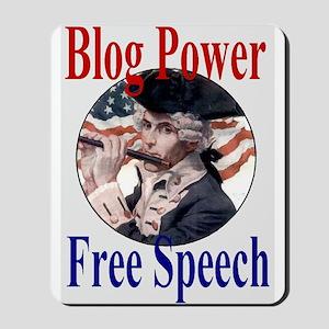 Blog Power = Free Speech Mousepad
