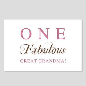 One Fabulous Great Grandma Postcards (Package of 8