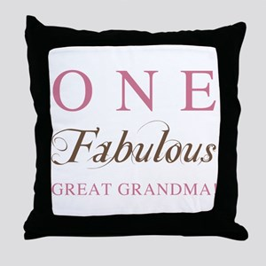 One Fabulous Great Grandma Throw Pillow