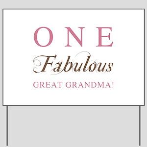 One Fabulous Great Grandma Yard Sign