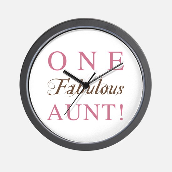 One Fabulous Aunt Wall Clock
