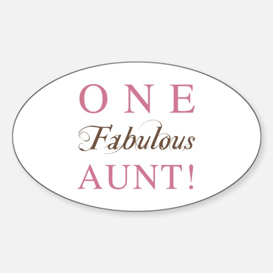 One Fabulous Aunt Sticker (Oval)