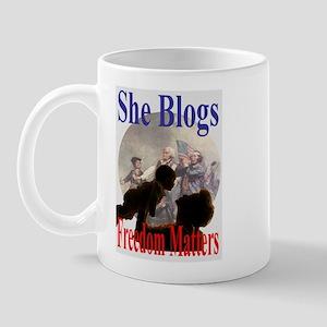 SHE BLOGS Mug
