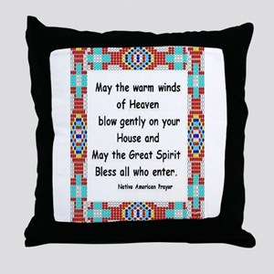 INDIAN PRAYER Throw Pillow
