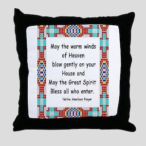 INDIAN PRAYER Throw Pillow