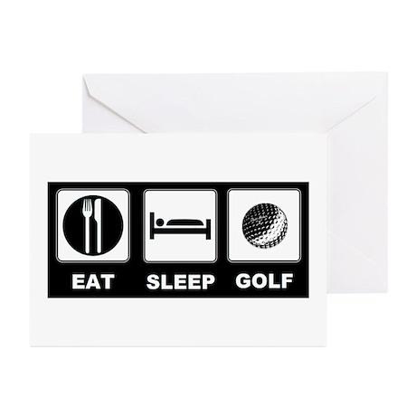Eat Sleep Golf Greeting Cards (Pk of 20)