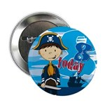 "Cute Pirate Boy 8th Birthday 2.25"" Button"