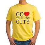 Go love your own City origina Yellow T-Shirt