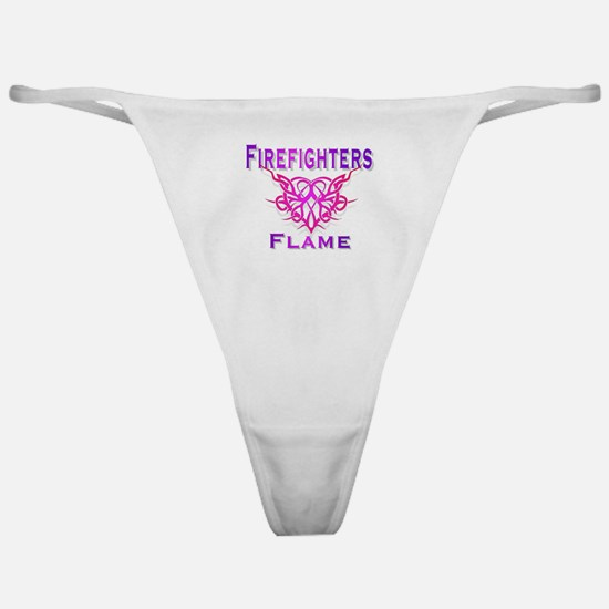 Cute Firefighter girlfriend Classic Thong