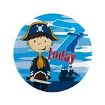 "Pirate Boy 7th Birthday 3.5"" Button (100 Pk)"