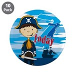 "Cute Pirate Boy 7th Birthday 3.5"" Button (10"