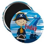 "Cute Pirate Boy 7th Birthday 2.25"" Magnet (10"