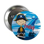 "Pirate Boy 7th Birthday 2.25"" Button (10 Pk)"